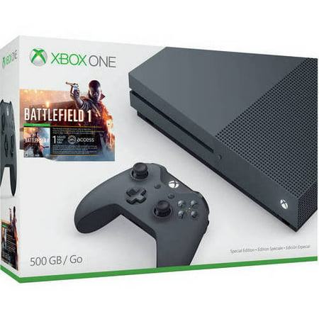 Microsoft Xbox One S (500GB) Battlefield 1 Special Edition Bundle, Storm Grey, ZZG-00028
