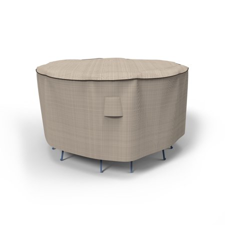 Budge Medium Tan Tweed Patio Bar Table/Chairs Cover, English Garden