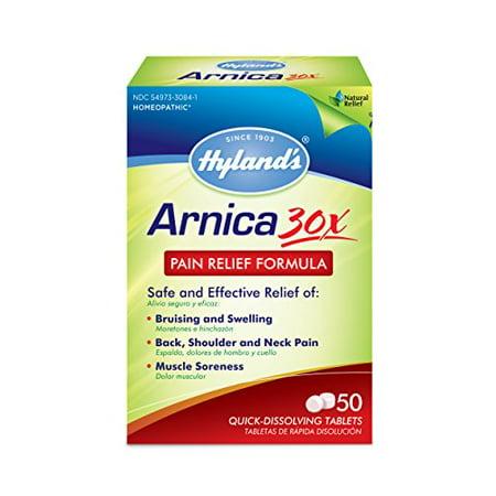 5 Pack Arnica Hyland Soulagement de la douleur Formule rapide Dissoudre le comprimé 50 Count Chaque
