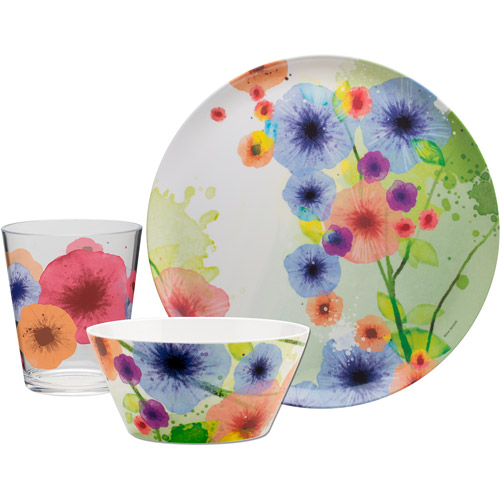 Zak Designs Zak! 12pc Meadow Dinnerware Set - (4) 10