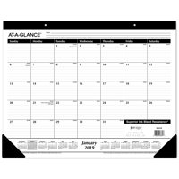 product image at a glance 2019 desk calendar desk pad 21 3