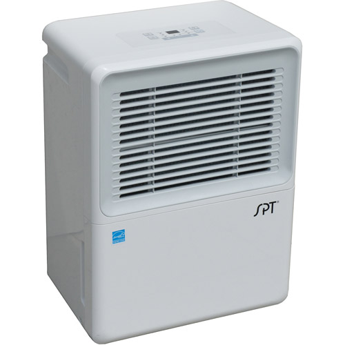 Sunpentown 50-Pint Dehumidifier with Built-in Pump, White, SU-52PE