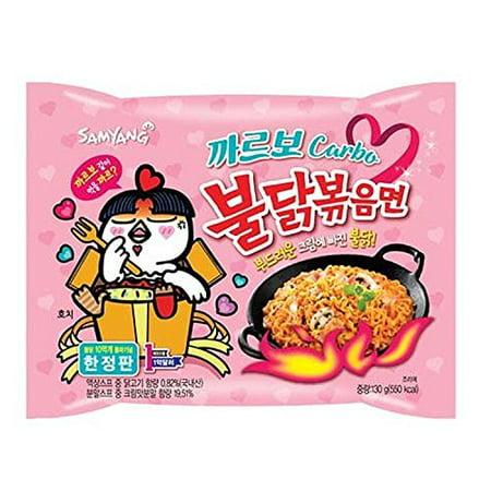 Samyang Ramen Best Korean Noodles (Carbo Spicy Chicken 5 (Best Korean Instant Ramen)