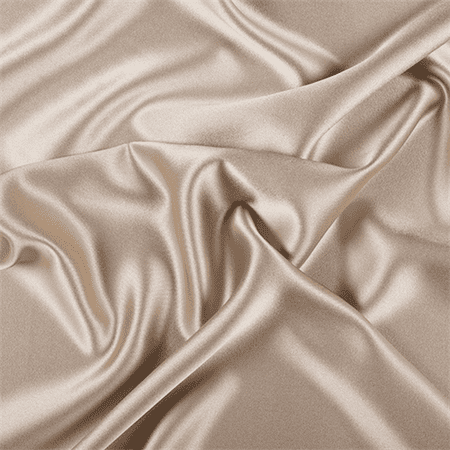 Golden Tan Silk Crepe Back Satin, Fabric By the Yard