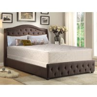 """WAYTON, 10-Inch medium plush Tight top Innerspring Mattress And 4-Inch Wood Traditional Box Spring/Foundation Set With Frame, No Assembly Required, Good For The Back, Twin Size 74"""" x 38"""""""
