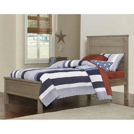NE Kids Highlands Alex Twin Panel Bed in Driftwood - image 1 de 1