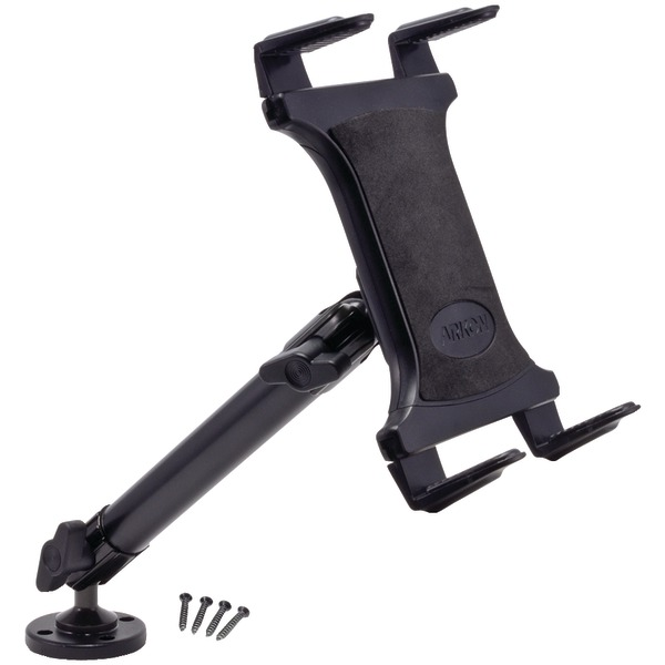 ARKON TAB805 10in Heavy-Duty Aluminum Universal Tablet Mount with 4-Hole Drill Base