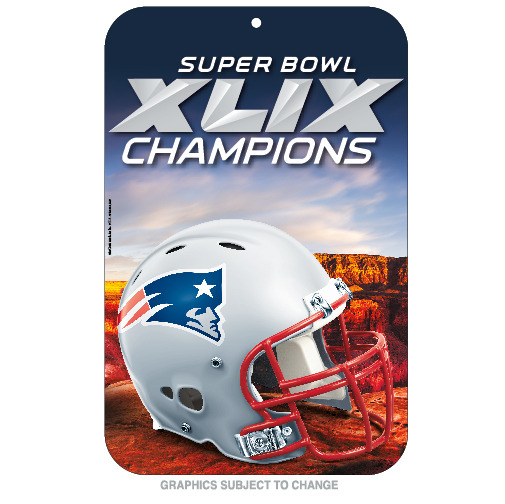 New England Patriots Official NFL 11 inch x 17 inch  Super Bowl 49 Champions Reserved Parking Sign by WinCraft