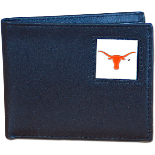 NCAA - Siskiyou - Bi-Fold Leather Wallet - University of Texas Longhorns