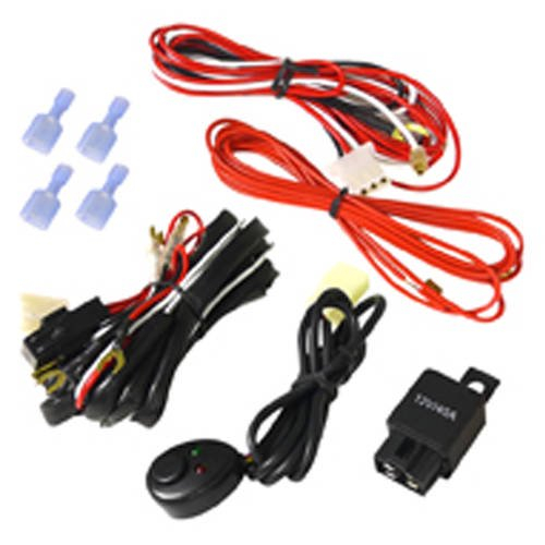 spec-d tuning led work light wiring kit (supports up to 2 led work lights  with switch, dual relay, wire harness) - walmart.com - walmart.com  walmart