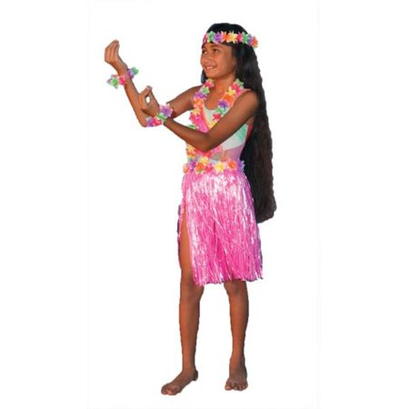 Costumes for all Occasions FF251807 Aloha Set Pink - Costumes For All