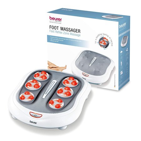 Beurer Shiatsu Foot Massager 18 Rotating Massage Heads, Relax Sore & Tired Feet with Deep Tissue, Heat Function, (Best Massagers For Home Cars)