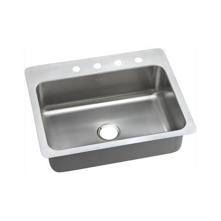Dayton Stainless Steel 27u0022 x 22u0022 x 8u0022, Single Bowl Dual Mount Sink, 1 Hole