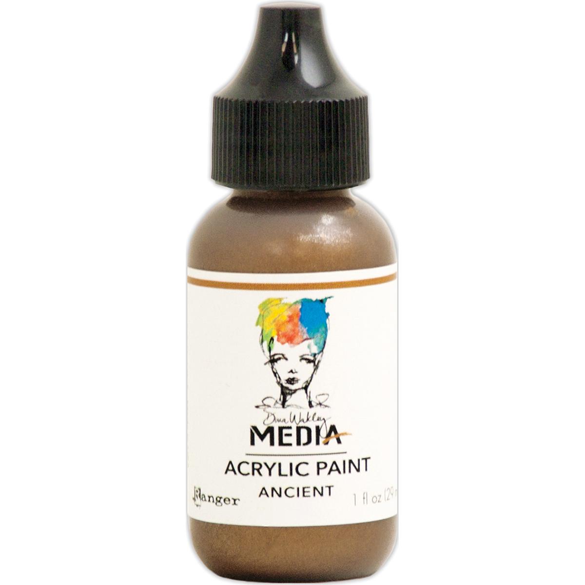 Dina Wakley Media Heavy Body Metallic Acrylic Paint 1oz-Ancient