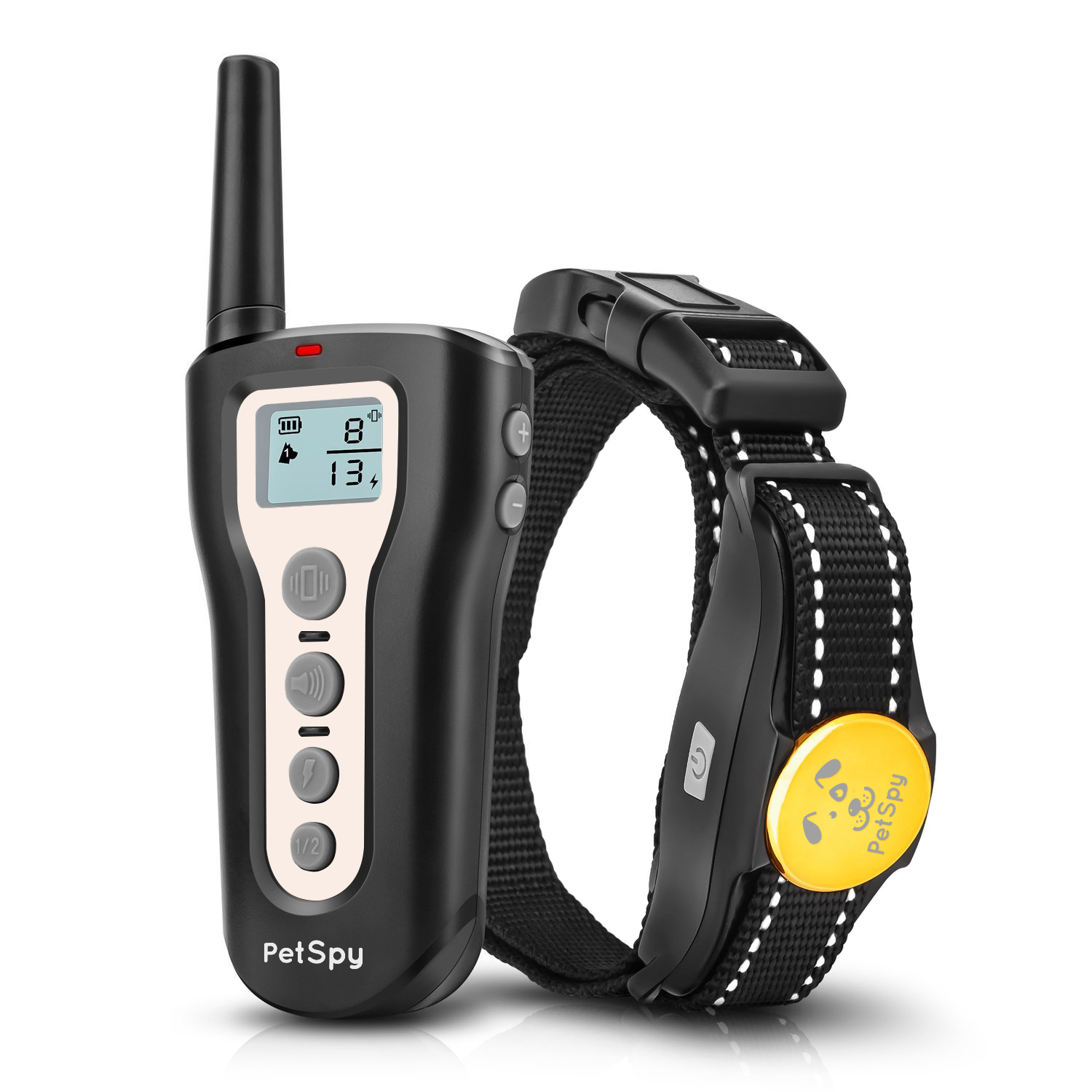 PetSpy P320 Dog Shock Collar for 1200ft Remote Training with Vibration and Beep Rechargeable and Waterproof E-Collar Trainer