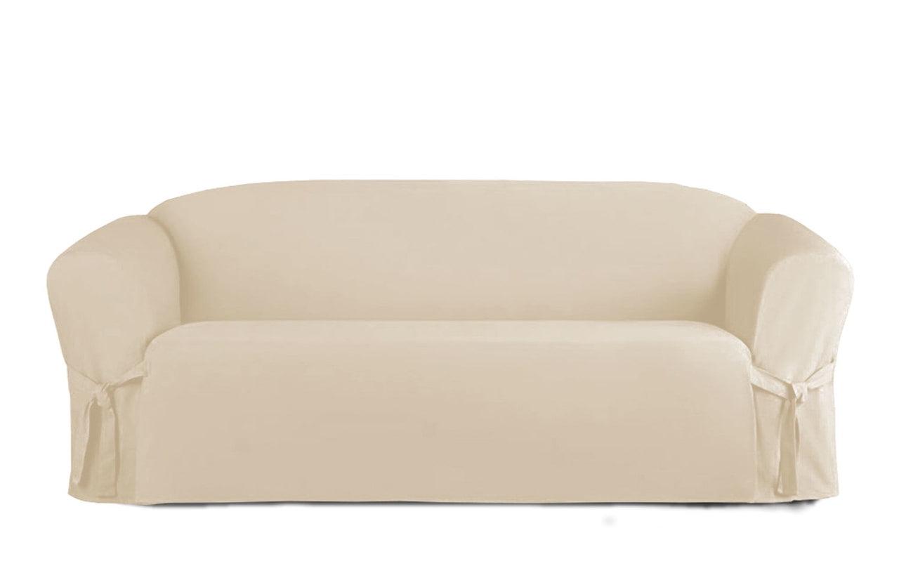 Linen Store Microsuede Furniture Slipcover Sofa Beige Walmartcom