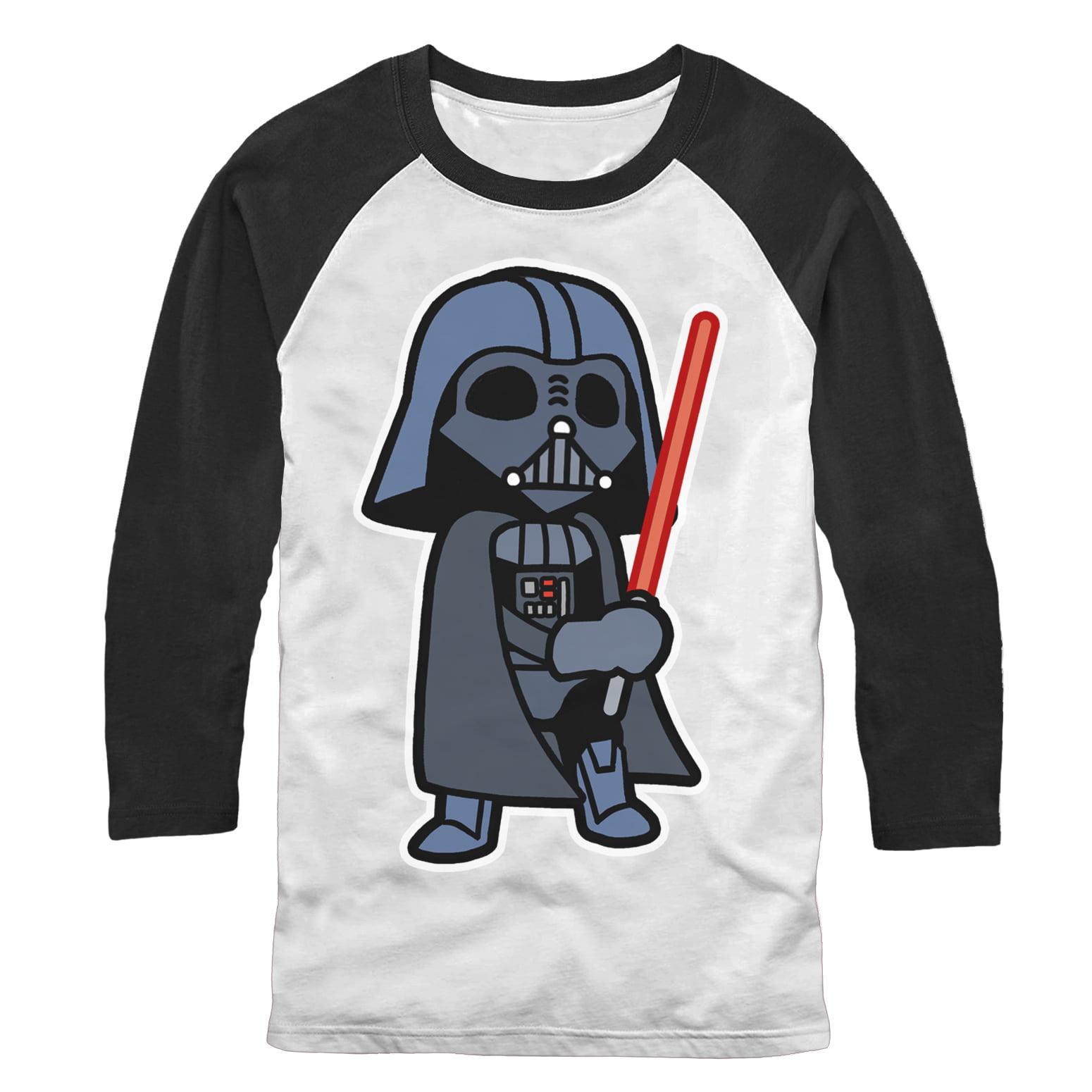 Star Wars Mens Darth Vader Cartoon T-Shirt