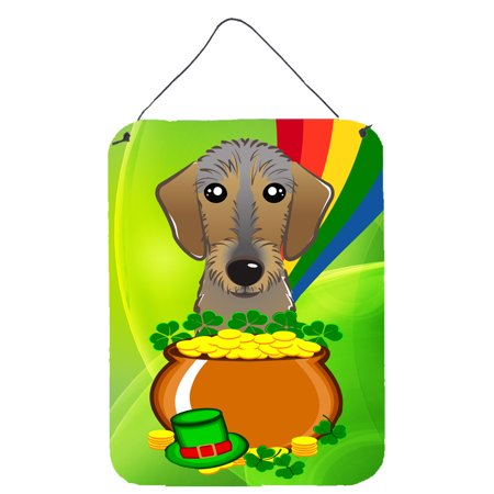 Wirehaired Dachshund - Wirehaired Dachshund St. Patrick's Day Wall or Door Hanging Prints