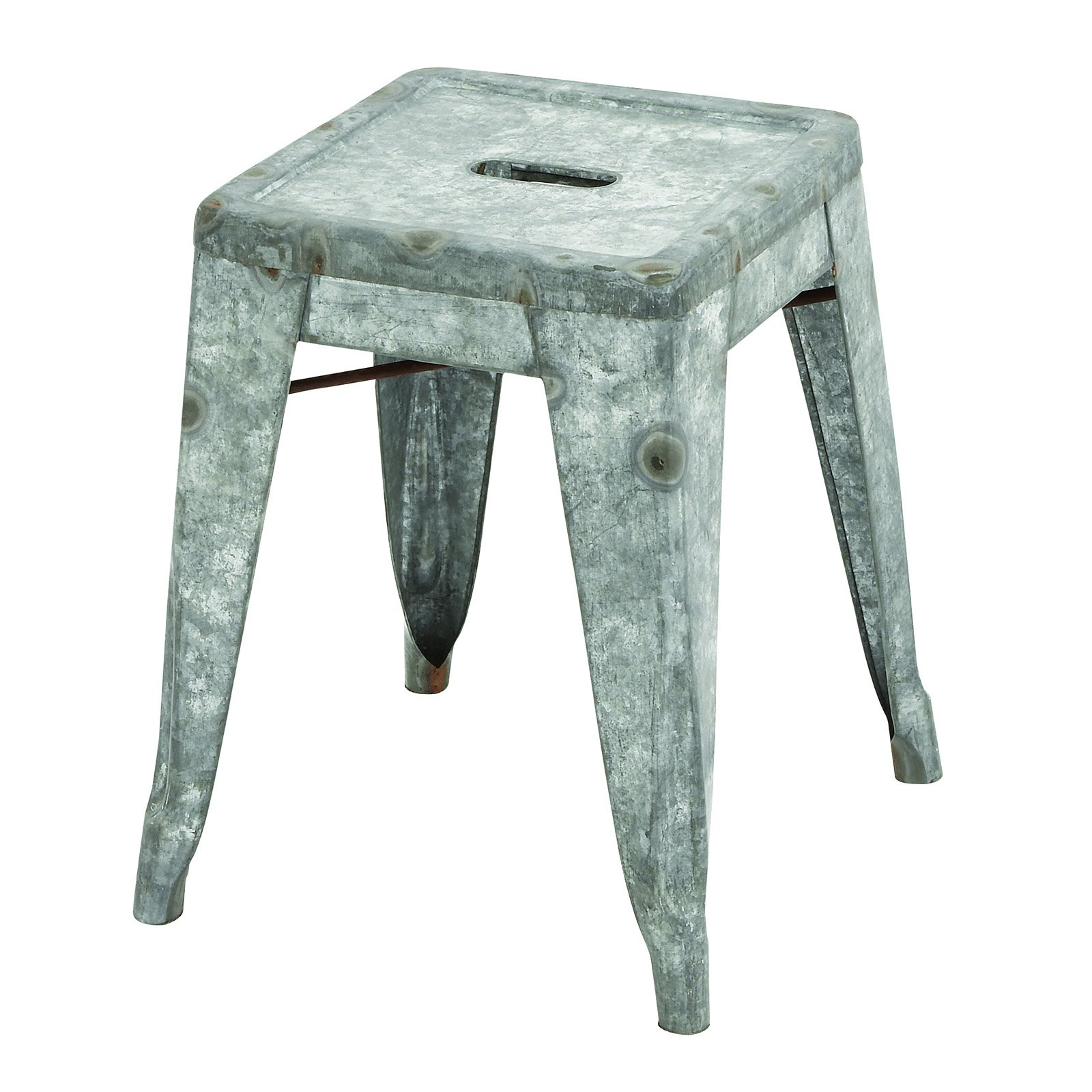 Classic Galvanized Counter Stool