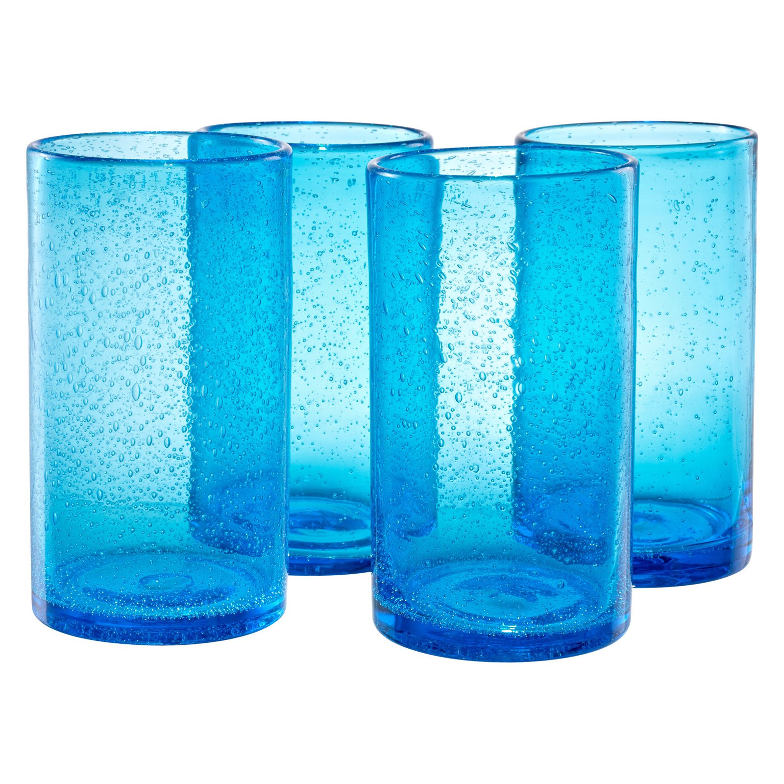 Artland Inc. Iris Turquoise HiBall Glasses - Set of 4