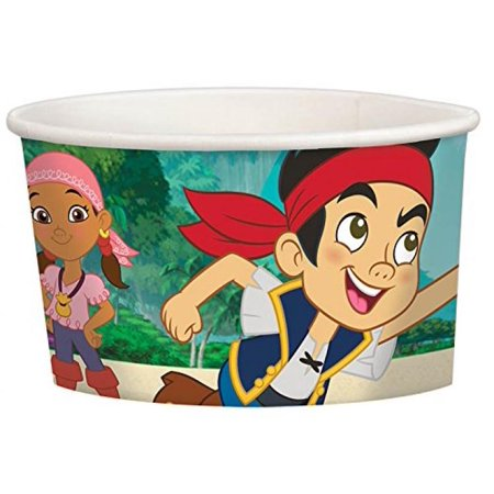 Jake And Neverland Pirates Decorations (Jake and the Neverland Pirates Party Cups for Icecream Popcorn Treat -8 Piece, 8.5)