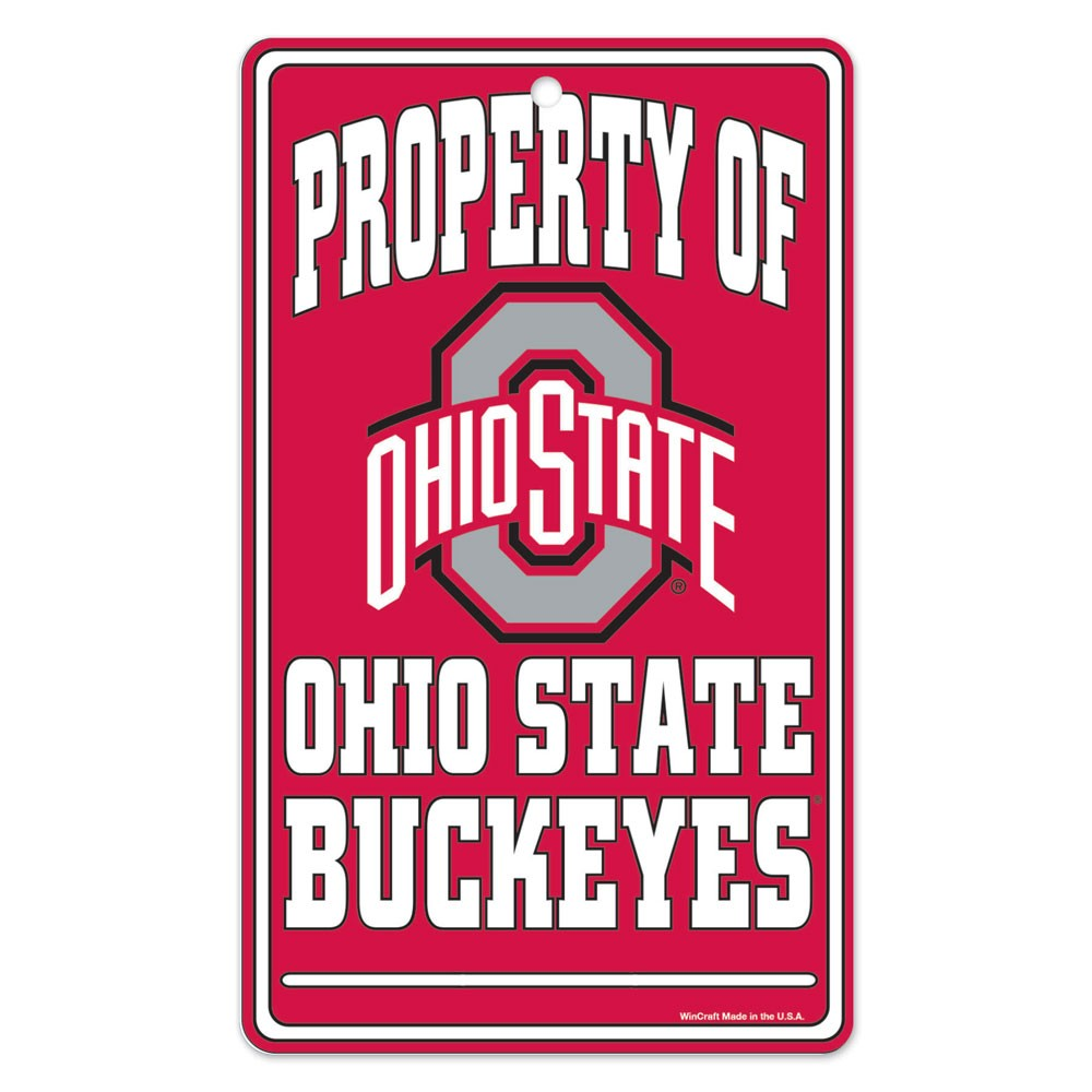 Ohio State Buckeyes Official NCAA 7.25 inch  x 12 inch  Property Of Sign by WinCraft