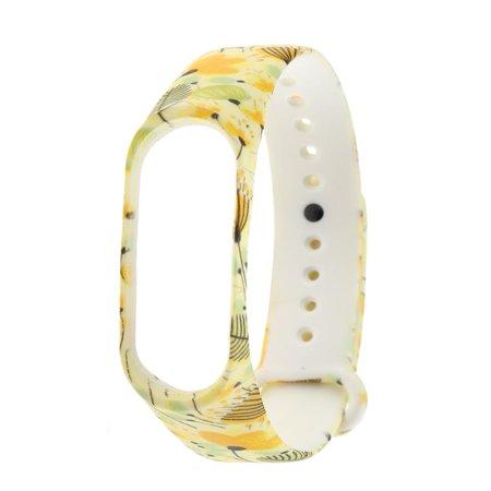 Milochic Silicone Multicolor Printed Watch Bracelet Strap for Xiaomi Mi Band 3 (06)