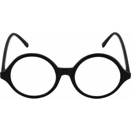 Black Glasses Professor (Clear Lens) Adult Halloween Accessory
