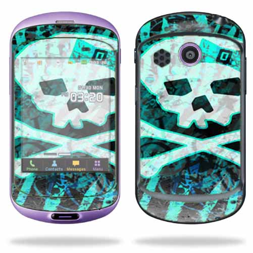 Mightyskins Protective Skin Decal Cover for Pantech Swift Cell Phone wrap sticker skins Zebra Skull