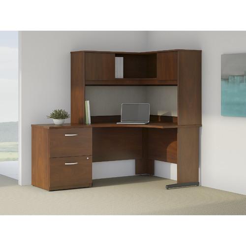 Bush Business Furniture Series C Elite L-Shape Corner Desk