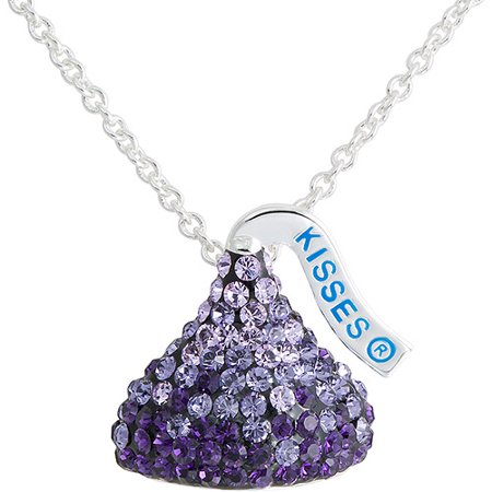 Hersheys kiss purple ombre crystal silvertone pendant 18 hersheys kiss purple ombre crystal silvertone pendant mozeypictures Choice Image