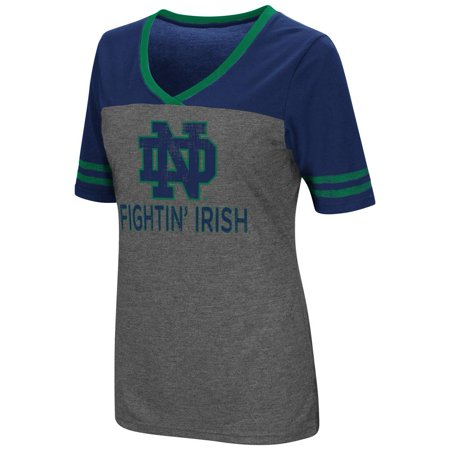 Ladies Colosseum Mctwist Notre Dame Fighting Irish Jersey T Shirt