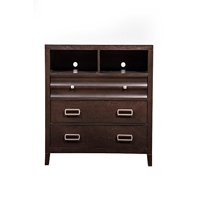 Wooden Tv Media Chest with 3 Drawer Cherry Brown