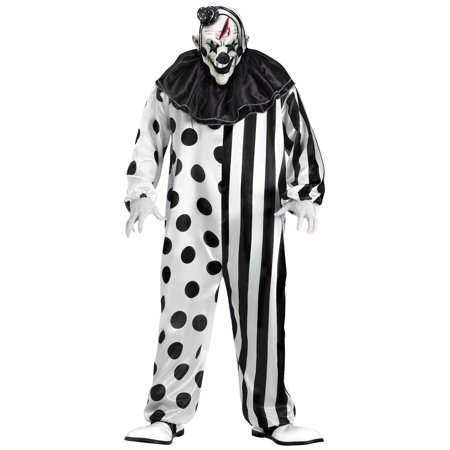 Killer Clown Adult Costume by Fun World, Size L (Jigsaw Killer Costume)