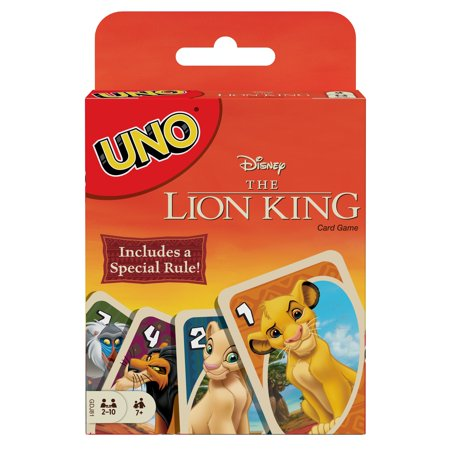 UNO Disney The Lion King Themed Card Game for 2-10 Players Ages