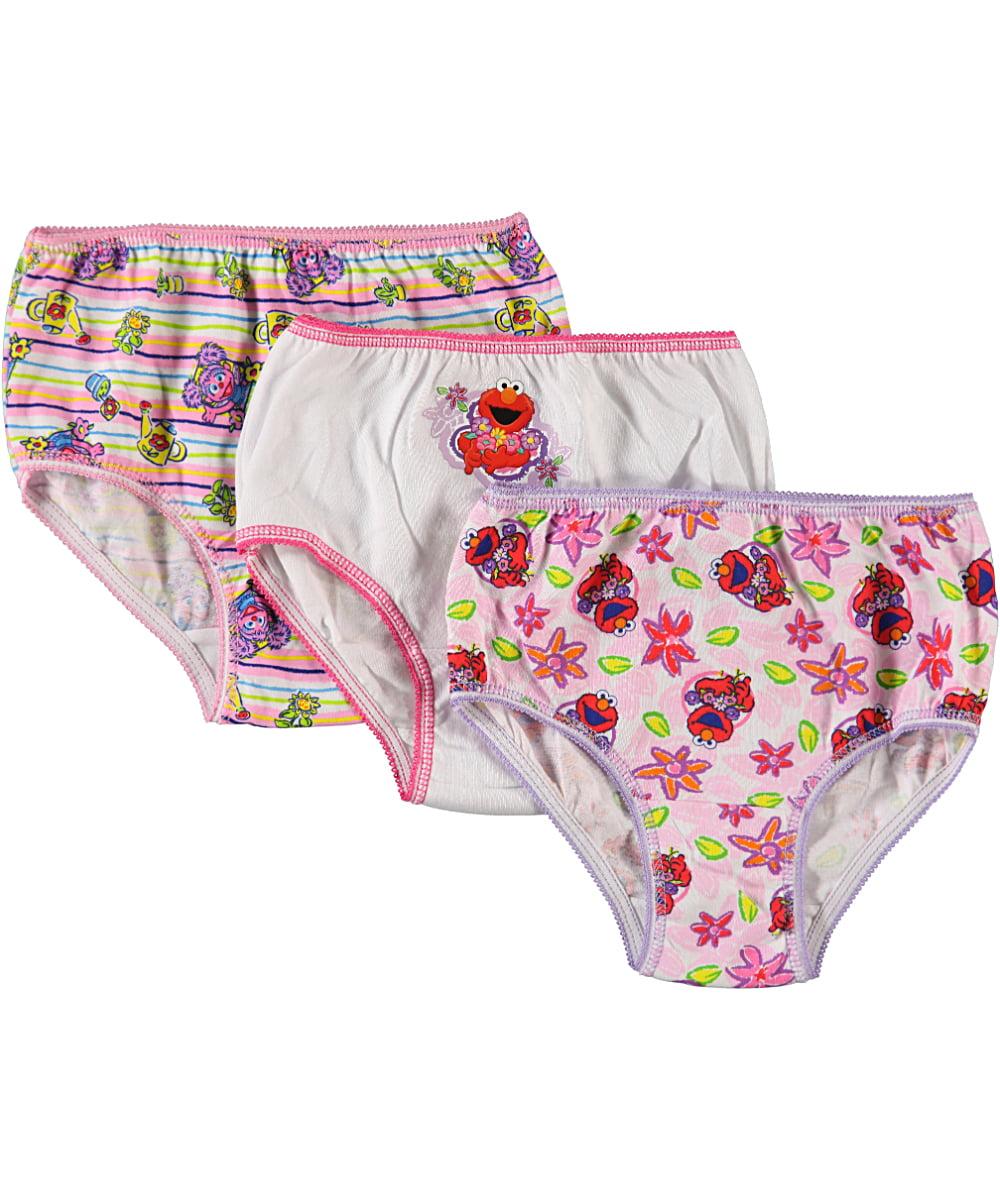 """Sesame Street Little Girls' Toddler """"Spring Flowers"""" 3-Pack Panties (Sizes 2T - 4T)"""