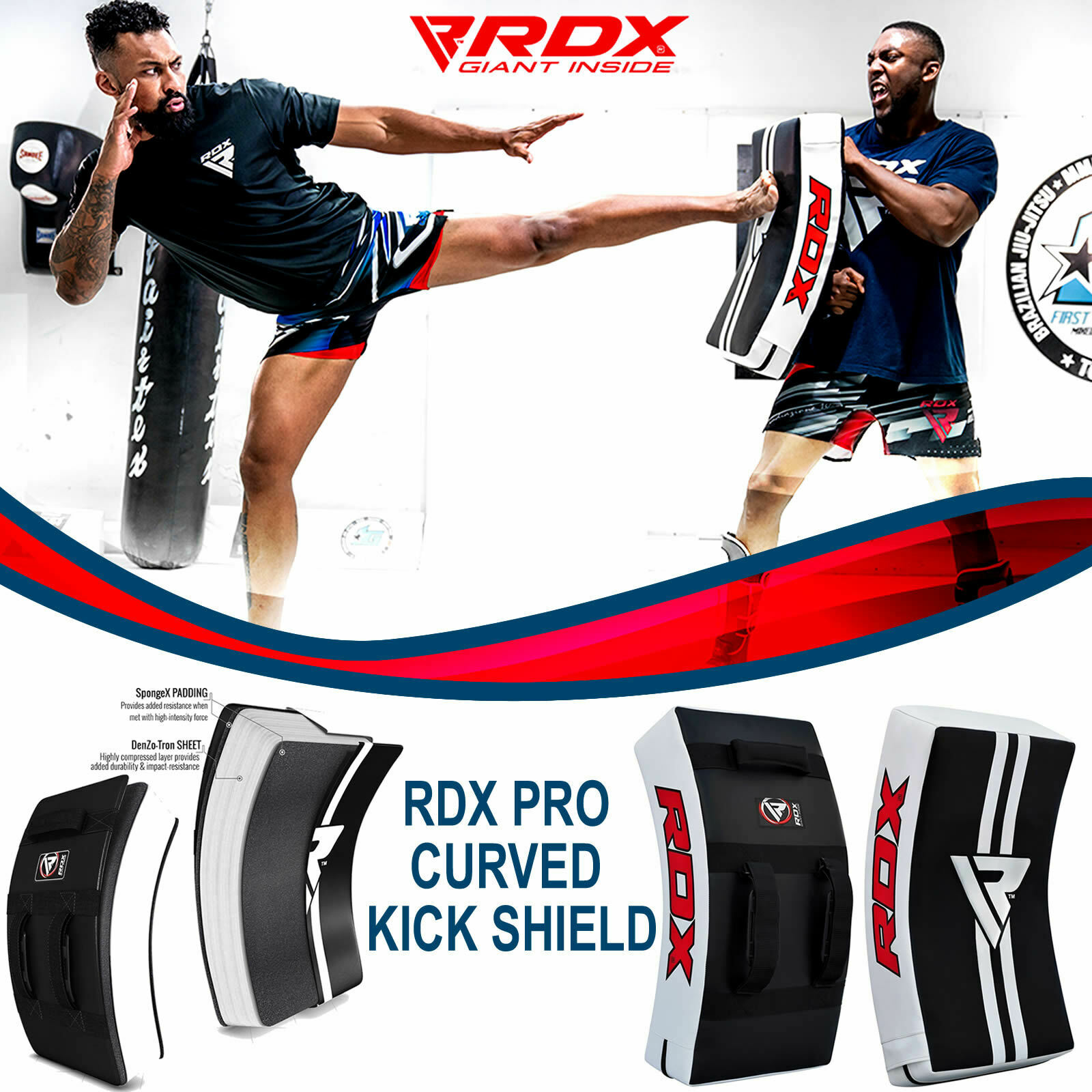 Muay Kick Boxing Strike Curved Arm Pad MMA Focus Muay Thai Punch Shield Kicking