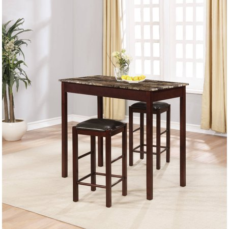 - Linon Tavern Collection 3-Piece Table Set, Espresso