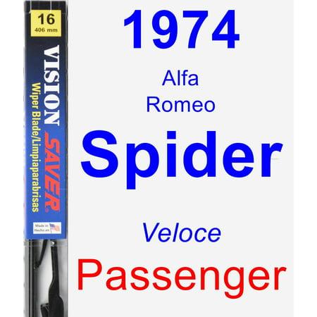 1974 Alfa Romeo Spider (Veloce) Passenger Wiper Blade - Vision Saver