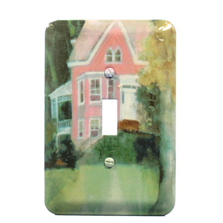 Leviton Victorian House Metal Wallplate Toggle Switch Cover 89001-VHS