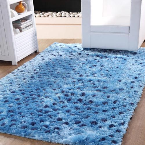 Affinity Home Collection Affinity Soft Plush Textured Silken Shag Rug (5' x 8')