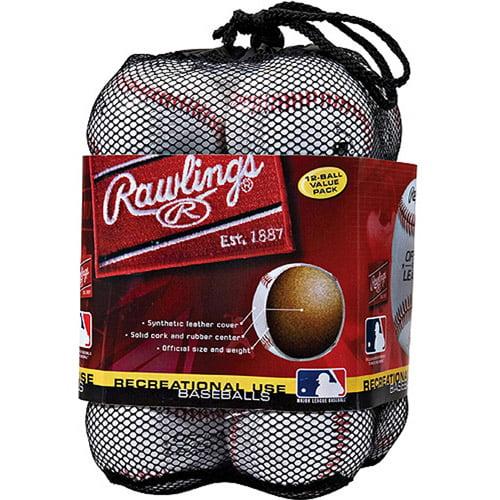 Rawlings Baseball CROLBBAG12 Baseballs (Dozens) Ages 10 & Under