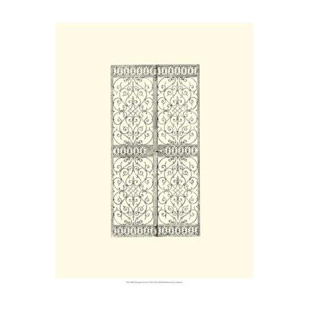 Wrought Iron Gate VIII Print Wall Art ()