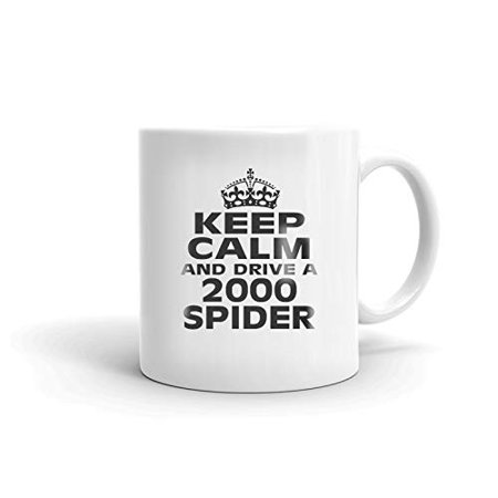 2000 Spider - FIAT 2000 SPIDER Keep Calm and Drive Coffee Tea Ceramic Mug