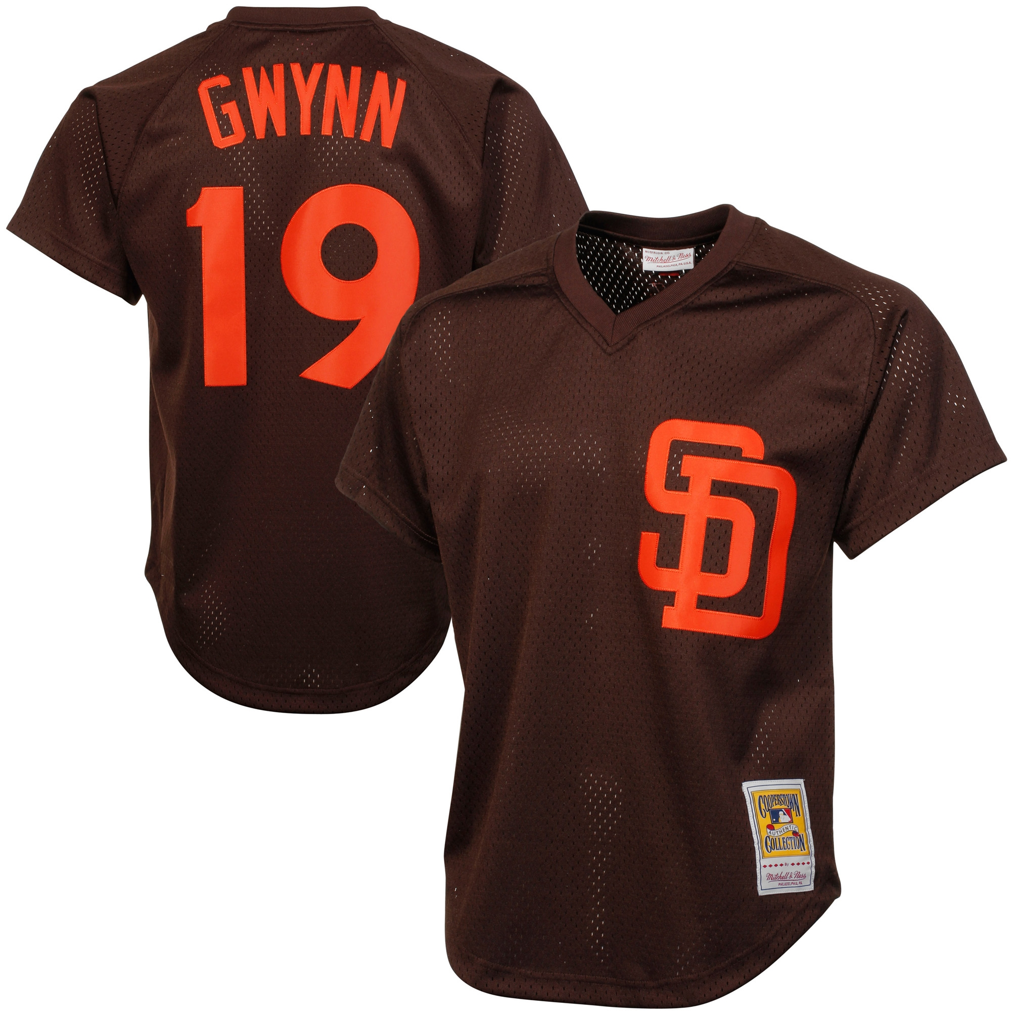 Majestic Tony Gwynn San Diego Padres 1985 Authentic Cooperstown Collection Batting Practice Jersey - Brown