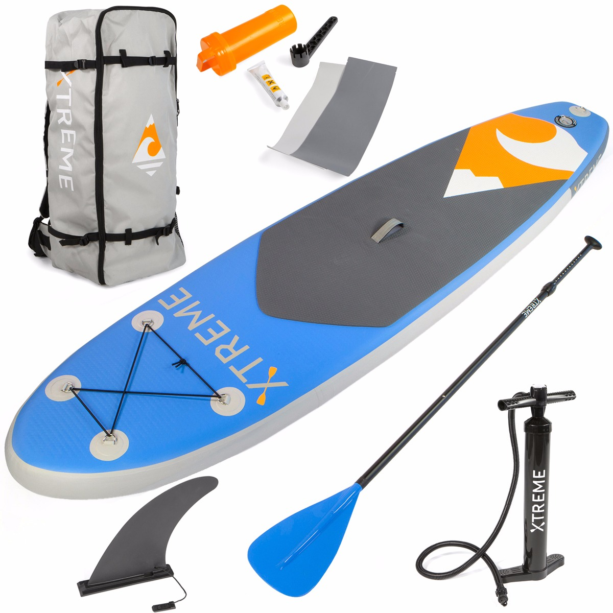 Click here to buy Xtreme 10ft Aqua SUP Paddle Board Inflatable StandUp PaddleBoard, Blue.