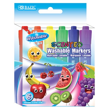 New 402767   6 Color Washable Scented Markers (24-Pack) Markers Cheap Wholesale Discount Bulk Stationery Markers Washable](Cheap Xray Markers)