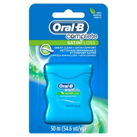 Oral-B Complete SatinFloss Dental Floss, Mint, 50
