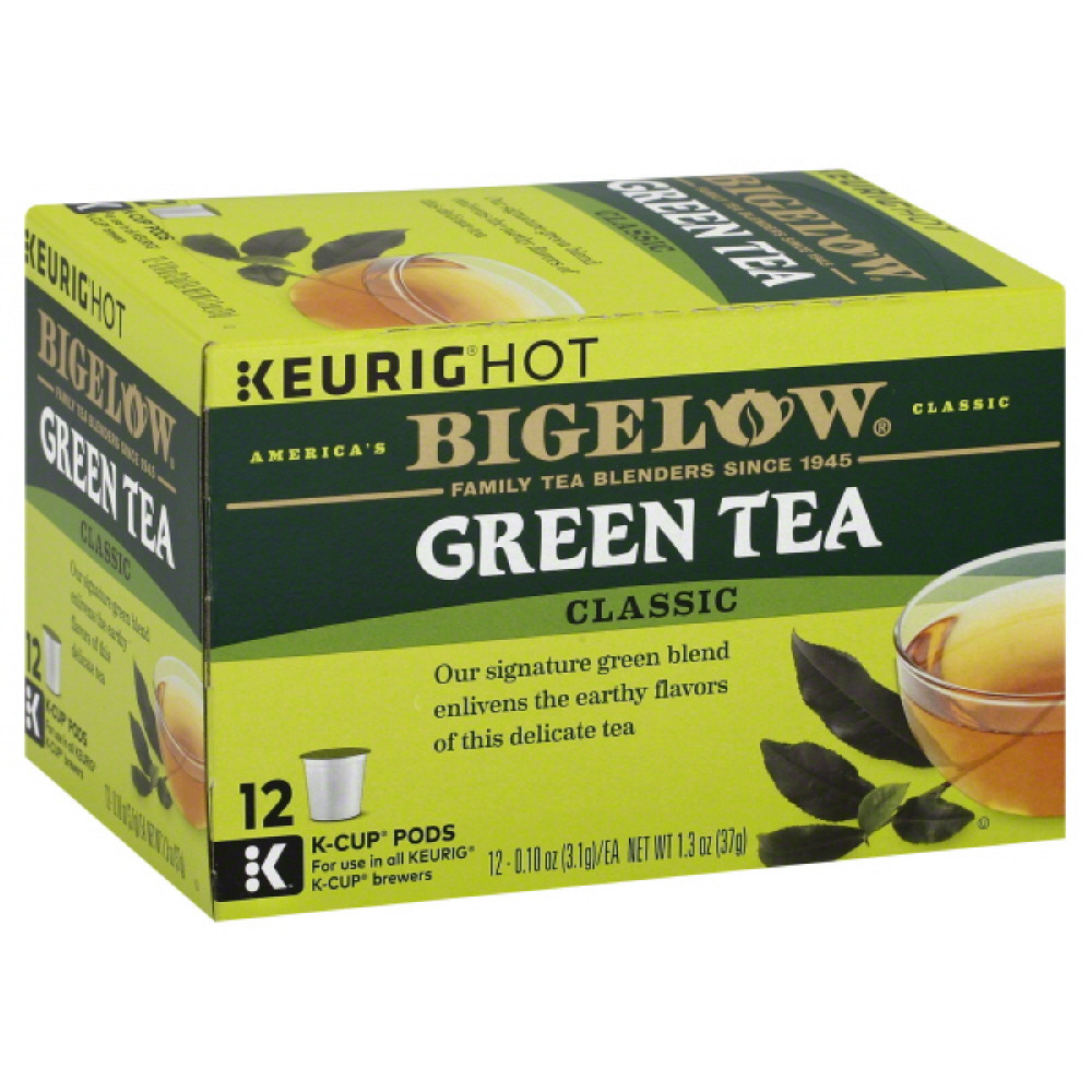 BIGELOW TEA GREEN K CUP, 12 EA (Pack of 6)