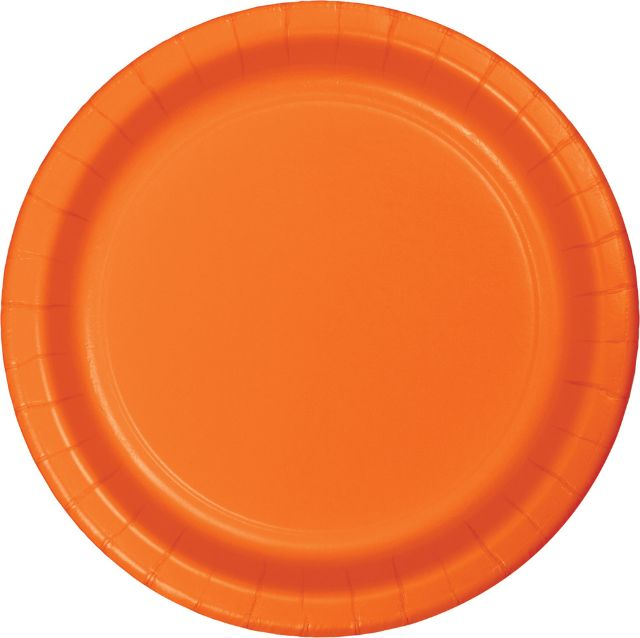 "Party Creations Dinner Plate, 9"", Sunkissed Orange, 8 Ct"